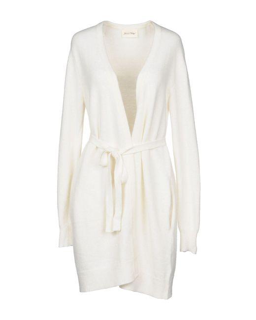 American Vintage - White Cardigan - Lyst