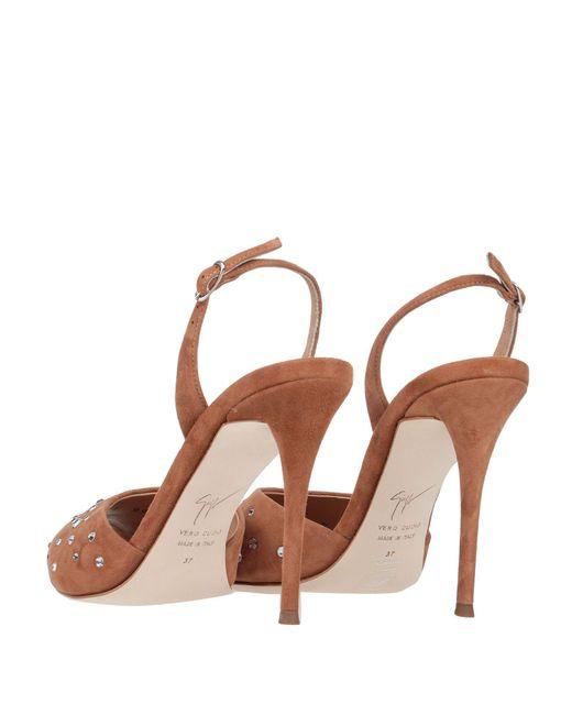 Sandali di Giuseppe Zanotti in Brown