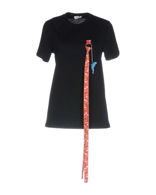 Camiseta Au Jour Le Jour de color Black