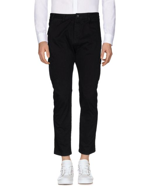 Paolo Pecora Black Casual Pants for men