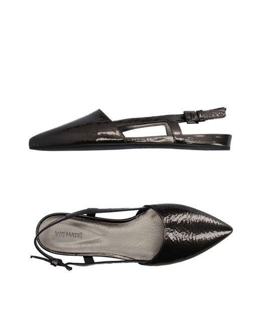 Vic Matié - Black Ballet Flats - Lyst