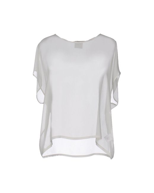 Nude - Gray Blouse - Lyst