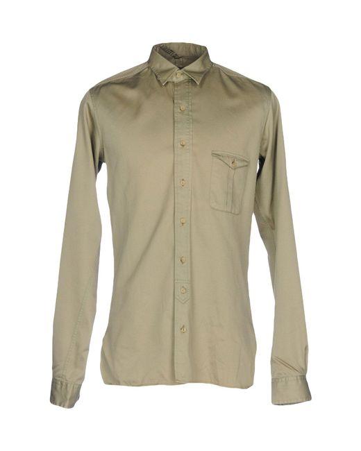 Golden Goose Deluxe Brand Green Shirt for men