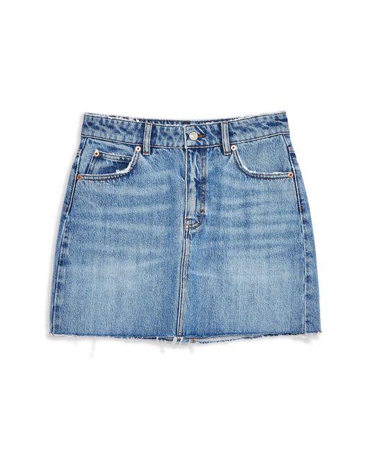 Gonna jeans di TOPSHOP in Blue