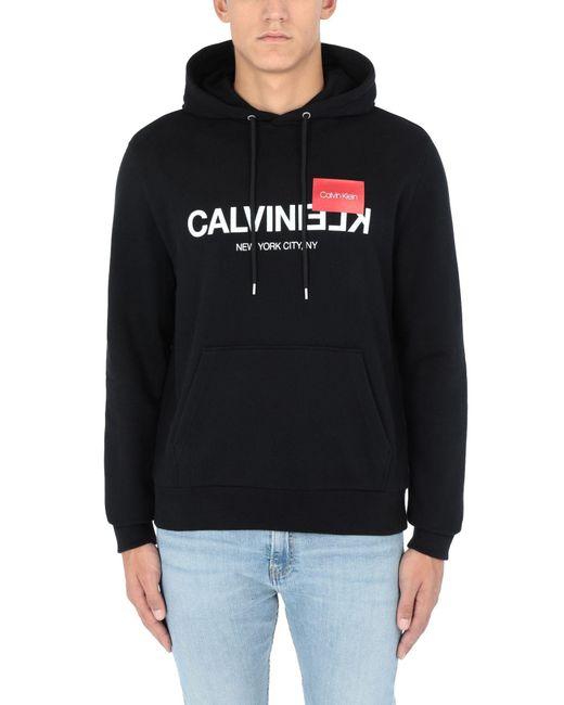 Sudadera Calvin Klein de hombre de color Black