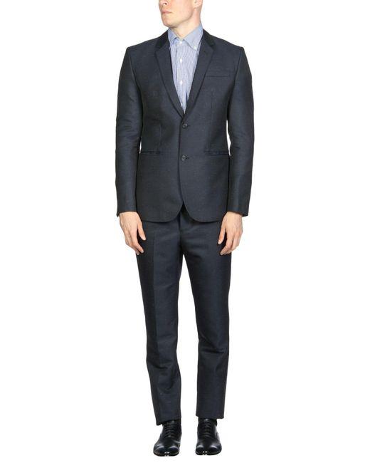 Emporio Armani - Blue Suits for Men - Lyst