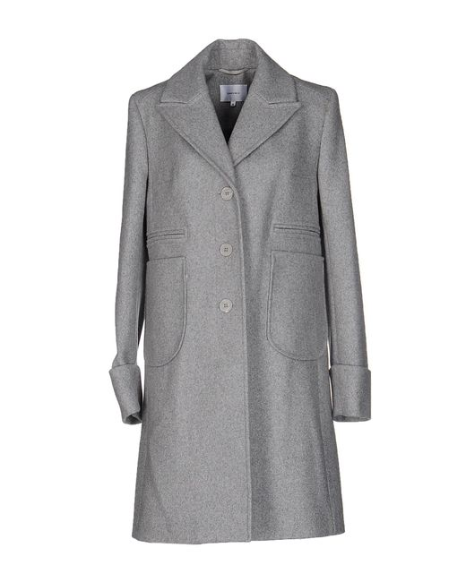 Carven | Gray Coat | Lyst