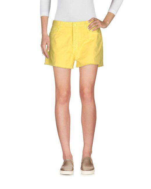 Mauro Grifoni - Yellow Denim Shorts - Lyst