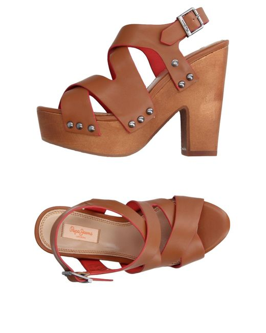Pepe Jeans - Brown Sandals - Lyst