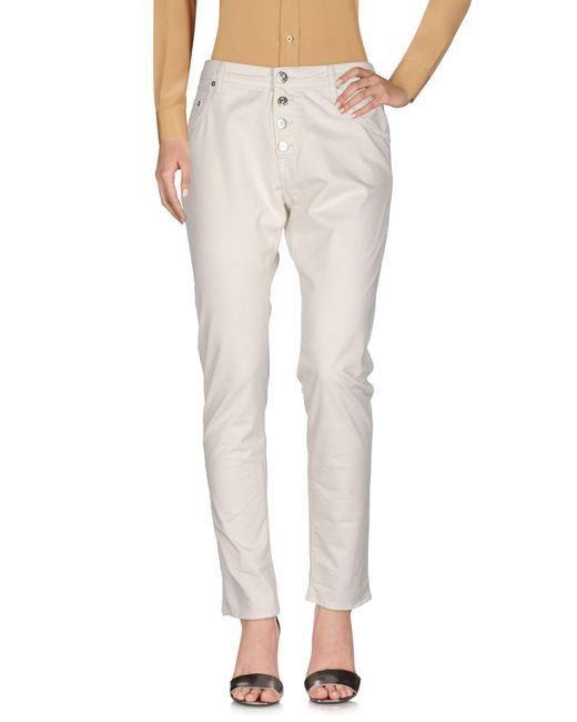Replay White Casual Pants