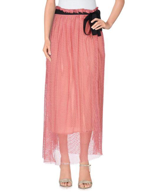 Jucca - Pink Long Skirt - Lyst