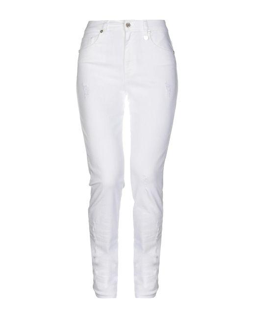 Pantalon en jean Blugirl Blumarine en coloris White