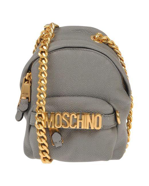 Moschino - Gray Cross-body Bag - Lyst