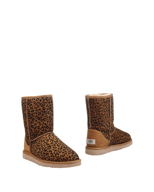 Ugg | Brown Ankle Boots | Lyst