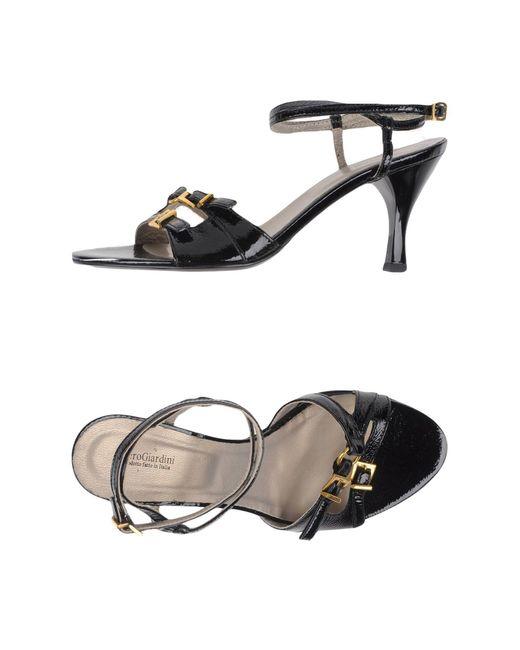 Nero Giardini Black Sandals