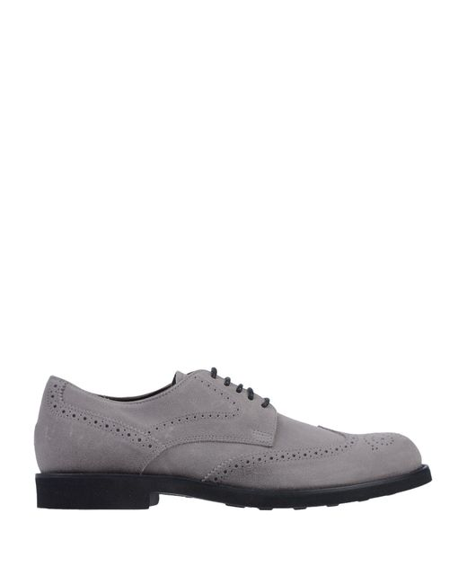 Tod's - Gray Lace-up Shoe for Men - Lyst