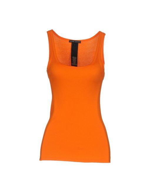 Ralph Lauren Black Label - Orange Vest - Lyst