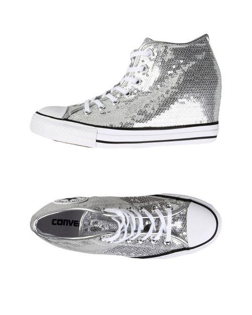 Converse - Metallic High-tops & Sneakers - Lyst