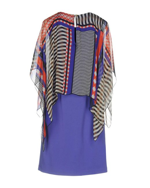 Pianurastudio Purple Short Dress