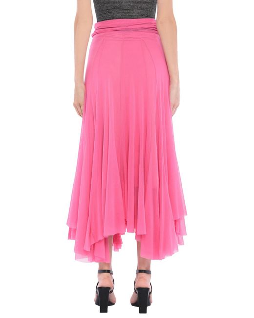 Jupe mi-longue MSGM en coloris Pink