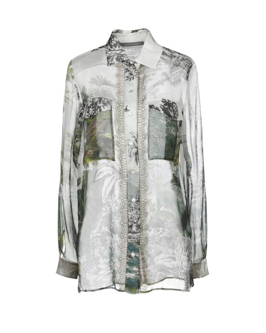 Alberta Ferretti Camisa de mujer de color gris 9X3Vy