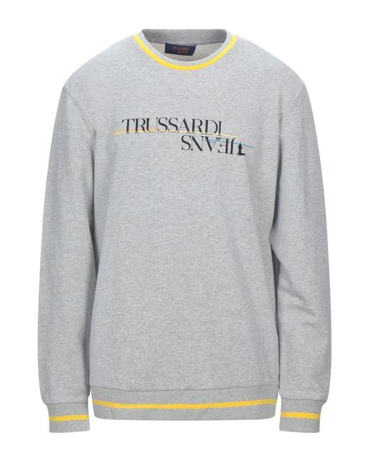 Trussardi Gray Sweatshirt for men