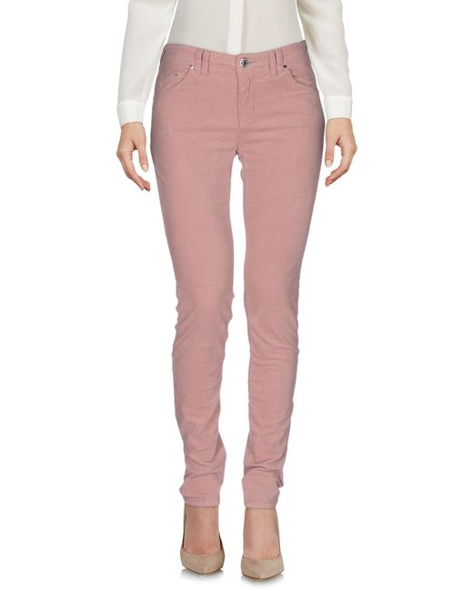 Armani Jeans - Pink Casual Pants - Lyst