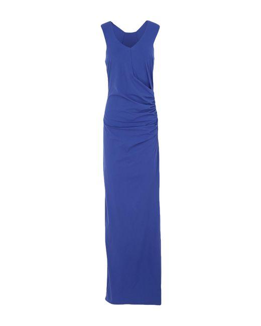 Patrizia Pepe Vestido largo de mujer de color azul
