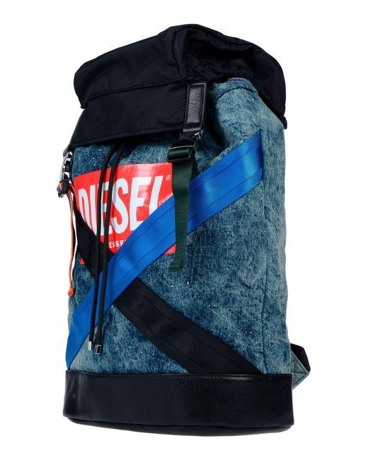 DIESEL Blue Backpacks & Bum Bags for men