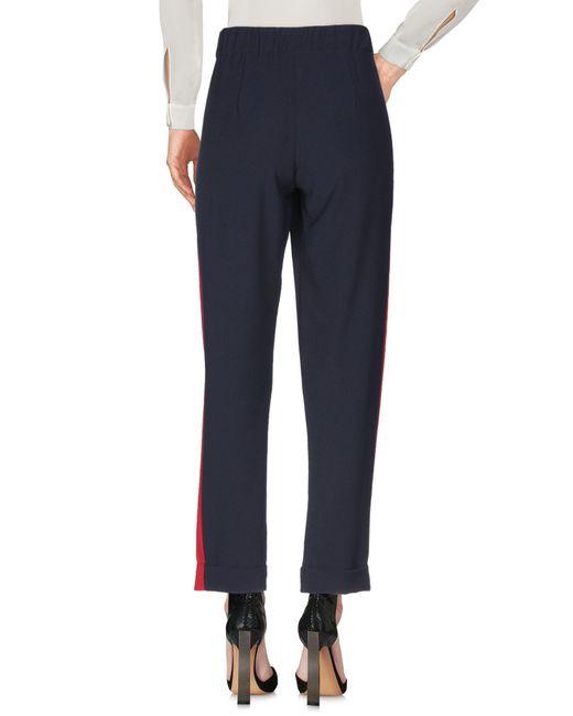 P.A.R.O.S.H. Pantalon femme de coloris bleu