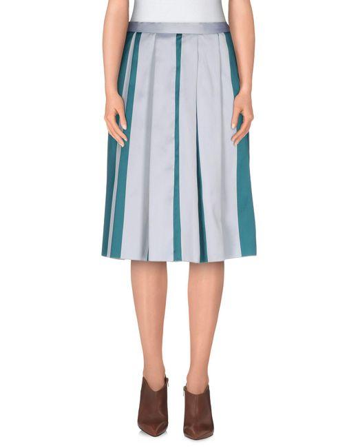 Annie P Blue Knee Length Skirt