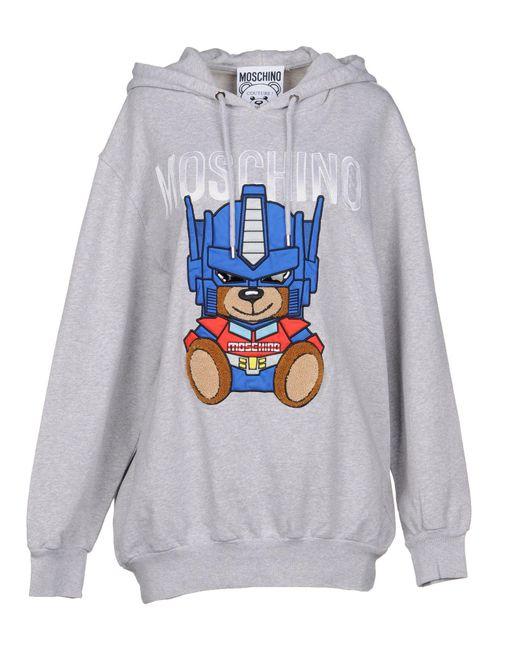 Moschino - Gray Sweatshirt - Lyst