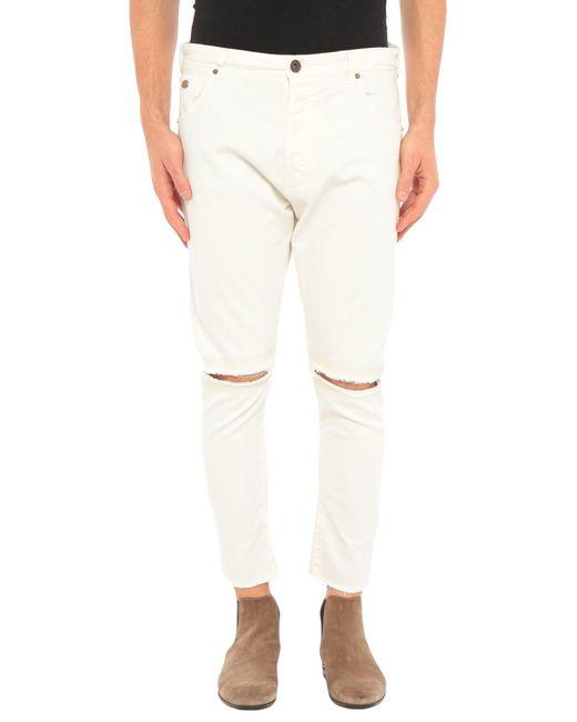 Berna Pantalon homme de coloris blanc 73z1Q