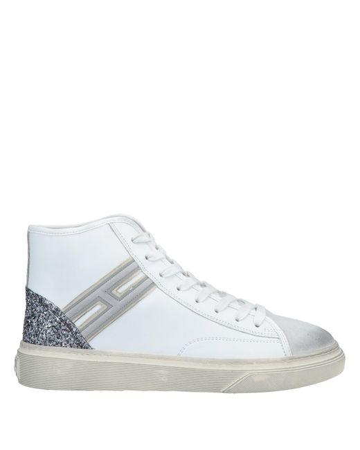 Hogan White High Sneakers & Tennisschuhe