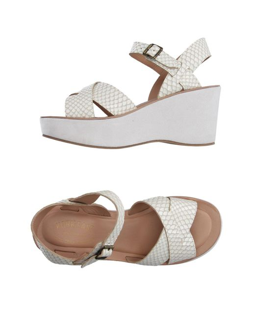 Kork-Ease White Sandals