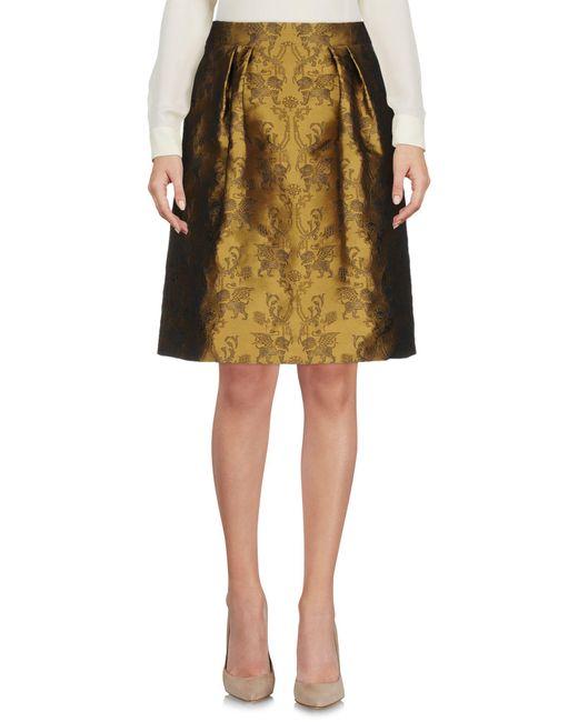 Alberta Ferretti - Natural Knee Length Skirts - Lyst