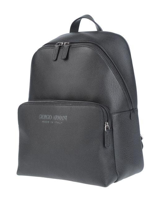 Giorgio Armani Black Backpacks & Bum Bags for men