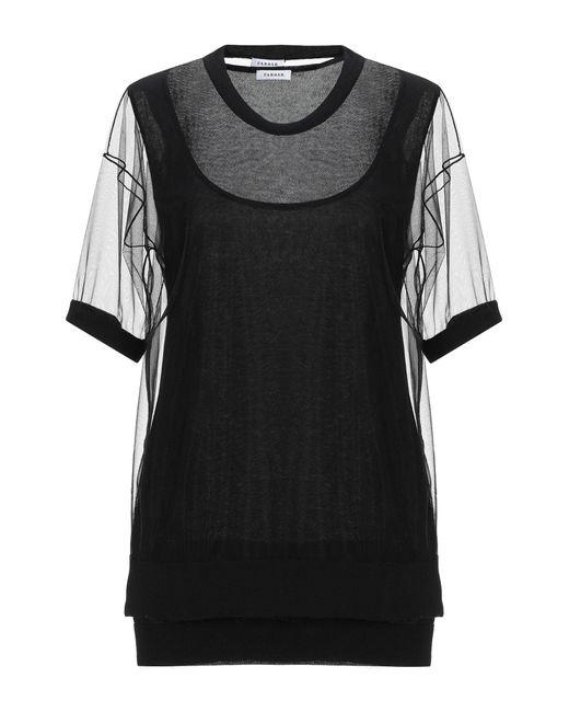 P.A.R.O.S.H. Black T-shirts