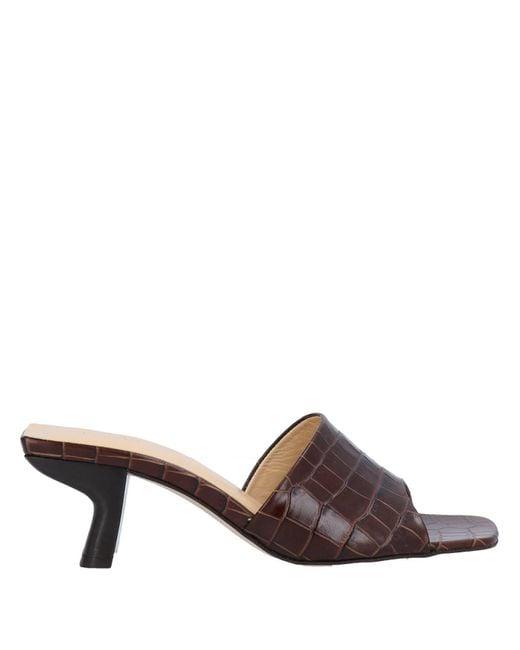 By Far Brown Sandals