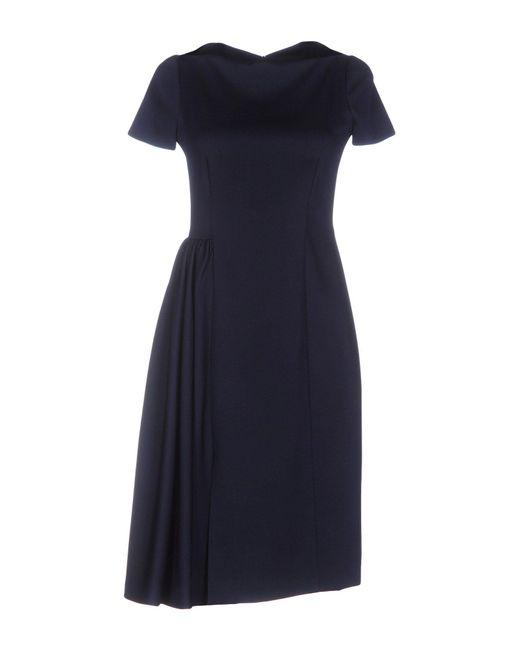Moschino - Blue Knee-length Dress - Lyst