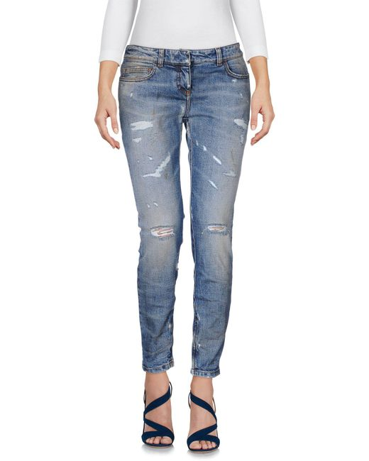 Faith Connexion - Blue Denim Pants - Lyst