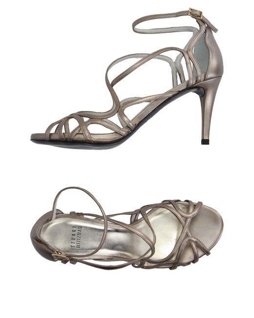 Stuart Weitzman Metallic Sandals