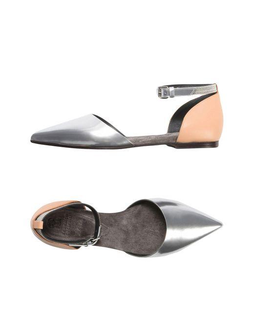 Brunello Cucinelli - Metallic Ballet Flats - Lyst
