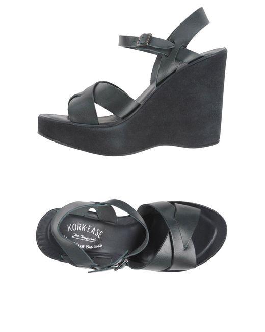 Kork-Ease Gray Sandals