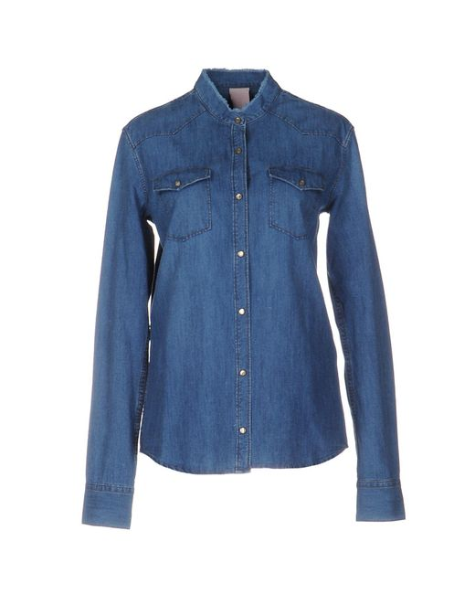 People Blue Denim Shirt