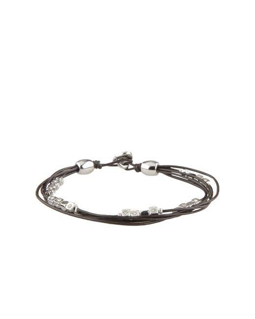 Fossil   Black Bracelet   Lyst