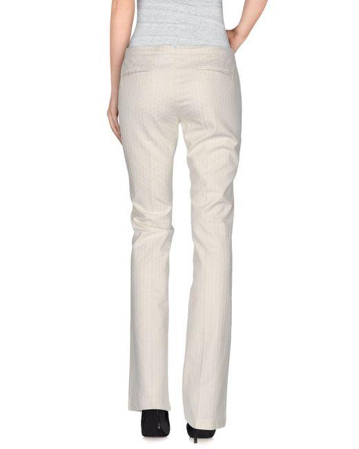 PT Torino White Casual Trouser