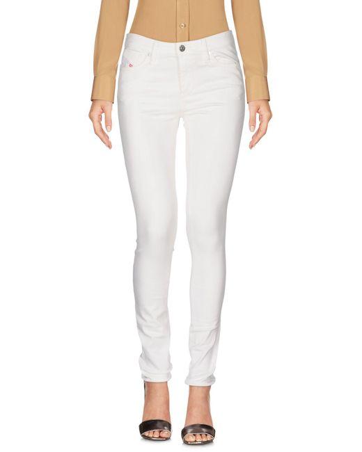 DIESEL - White Casual Trouser - Lyst