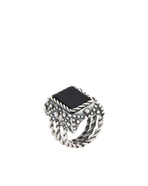 Emanuele Bicocchi Ring in Metallic für Herren