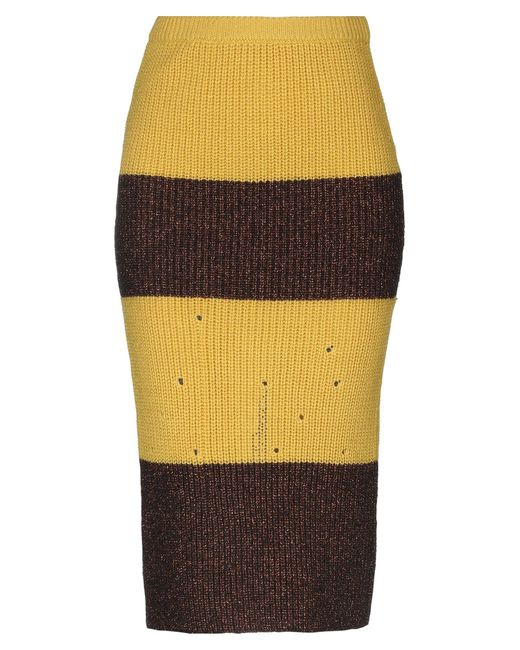 VIKI-AND Multicolor 3/4 Length Skirt
